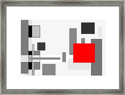 Digital Cubism Framed Print by Prakash Ghai
