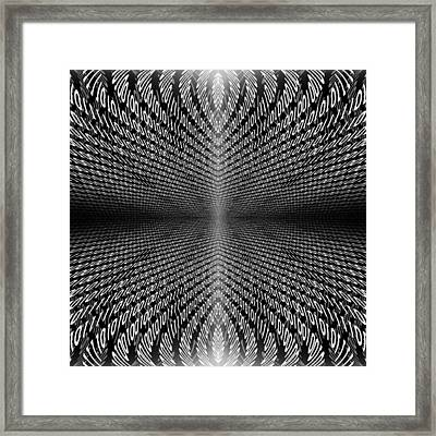 Digital Divide Vortex Framed Print by Gordon Dean II