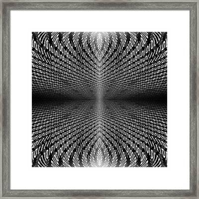 Digital Divide Vortex Framed Print