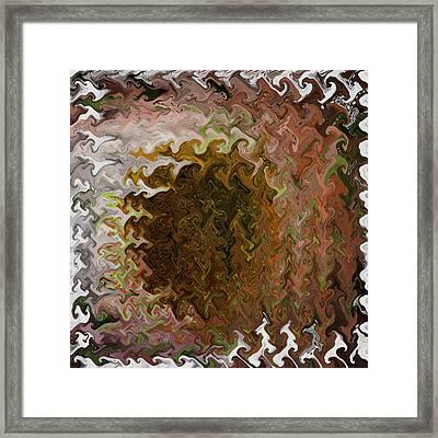 Digital Echinacea 2 Framed Print