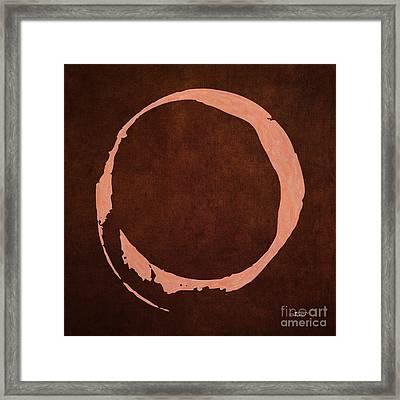 Digital Enso Framed Print