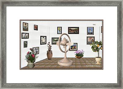 digital exhibartition _ Statue of fish 3 Framed Print