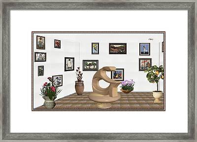 digital exhibitartion _Statue of  girl Framed Print