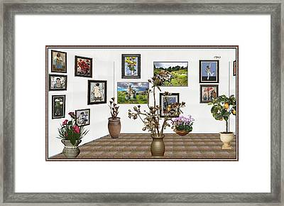 digital exhibition _ Modern Statue of Modern statue of branches Framed Print