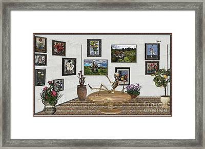 Digital Exhibition _ Relaxation In The Afterlife Framed Print