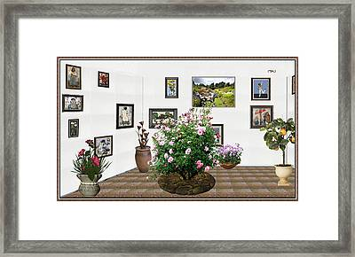 Digital Exhibition _ Roses Blossom 22 Framed Print