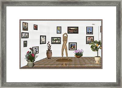 digital exhibition _ Statue of a Statue 23 of posing lady  Framed Print