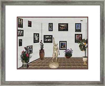 Framed Print featuring the digital art Digital Exhibition 17 by Pemaro