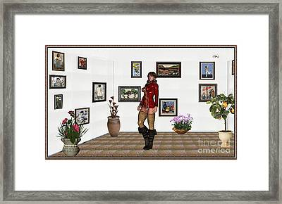 digital exhibition 32  posing  Girl 31  Framed Print