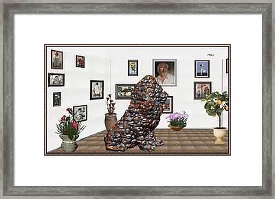 digital exhibition _Modern Statue of scrap Framed Print