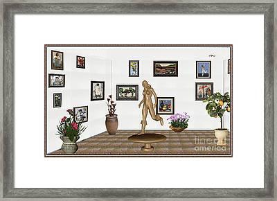 digital exhibition   sculpture of  posing  Girl 32  Framed Print