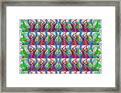 Digital Experiments April 2015 Abstract Dance Flow Pattern Modern Signature Art Graphic Using Multip Framed Print