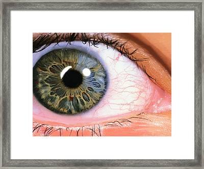 Digital Eye Framed Print by Kendall Tabor
