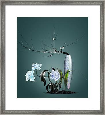 Digital Flower Arrangement 0204 Framed Print