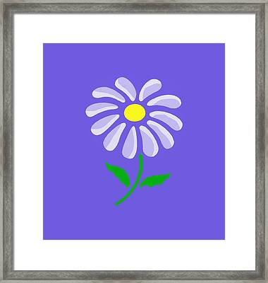 Digital Flower  Framed Print by Gina Lee Manley