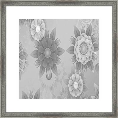 Digital Flowers Framed Print by Gina Lee Manley