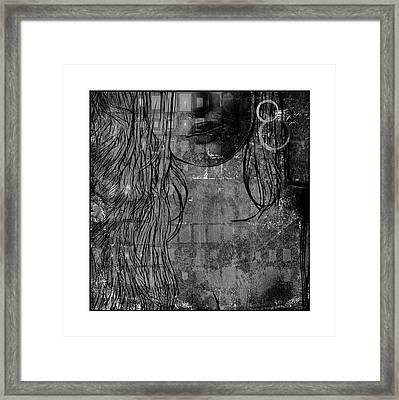 Digital Girl Bw Framed Print by Steve K
