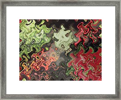 Digital Graphics Waves Made Of Veggie Salad Kitchen Cuisine Chef Christmas Holidays Birthday Mom Dad Framed Print