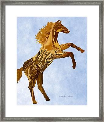 Digital Horse 2 Framed Print