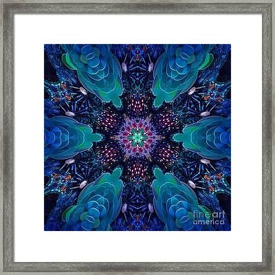 Digital Kaleidoscope Mosaic 089 Framed Print