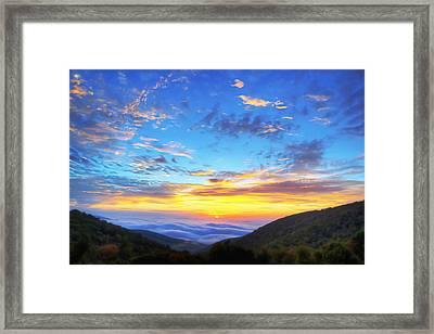 Digital Liquid - Good Morning Virginia Framed Print
