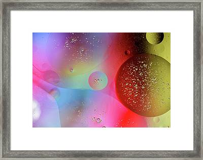 Framed Print featuring the photograph Digital Oil Drop Abstract by John Williams