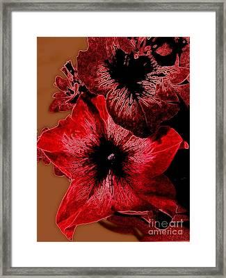 Digital Petunia Framed Print
