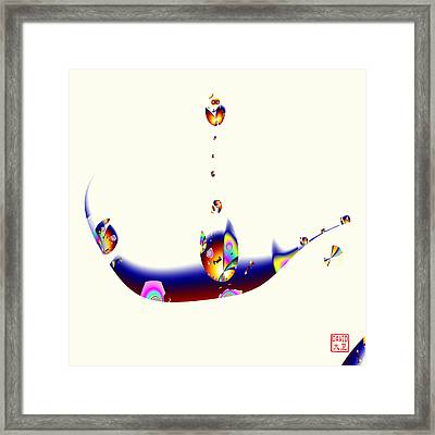 Digital Picasso - Cat In A Boat Framed Print
