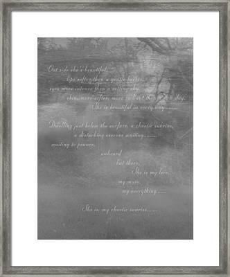 Digital Poem Framed Print