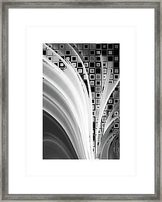 Digital Revolution Bw Framed Print