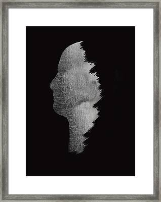 Digital Sculpture In Black Framed Print by Art Spectrum