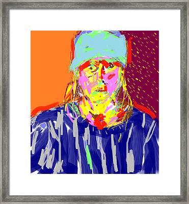 Digital Self Portrait Framed Print