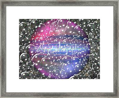 Digital Space Framed Print by Guillermo Mason
