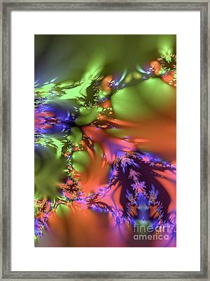 Digital Spring Flowers Framed Print