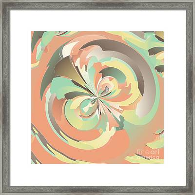Digital Watercolor Framed Print