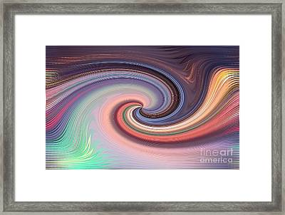 Digital Wave Framed Print by Yali Shi