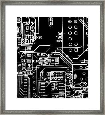 Digital World Framed Print by Martin Newman