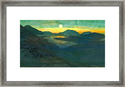 Digitale Kunst Landschaft  Framed Print by PixBreak Art
