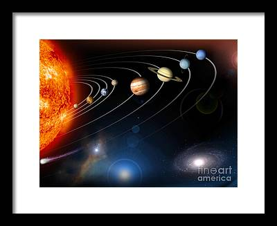 Planet Framed Prints
