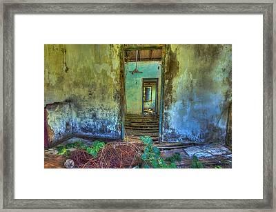 Dilapidated Beach House Framed Print by Nadia Sanowar