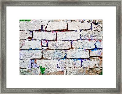 Dilapidated Brick Wall Framed Print