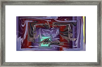 Dilemma At High Tide Framed Print by Tim Allen