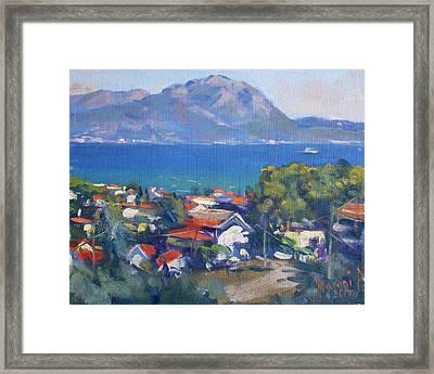 Dilesi And Evia Island Greece Framed Print