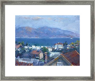 Dilesi By Aegean Sea Greece Framed Print