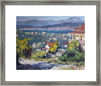 Dilesi Village Athens Framed Print