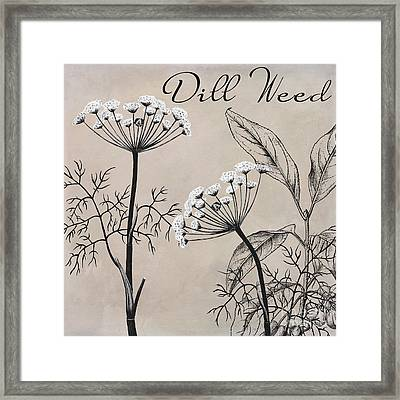 Dill Weed Flowering Herb Framed Print by Mindy Sommers