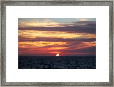 Dillon Beach Sunset Framed Print by Sierra Vance