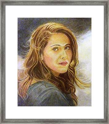 Dilwale-meera Framed Print by Linda Prediger