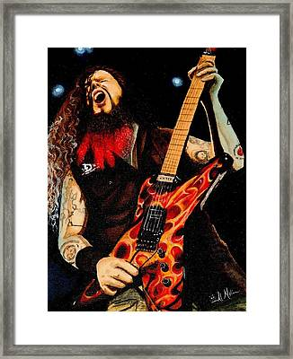 Dimebag At His Best Framed Print by Al  Molina