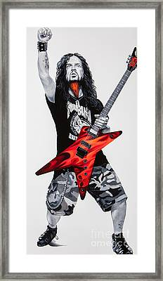 Framed Print featuring the painting Dimebag Forever by Igor Postash